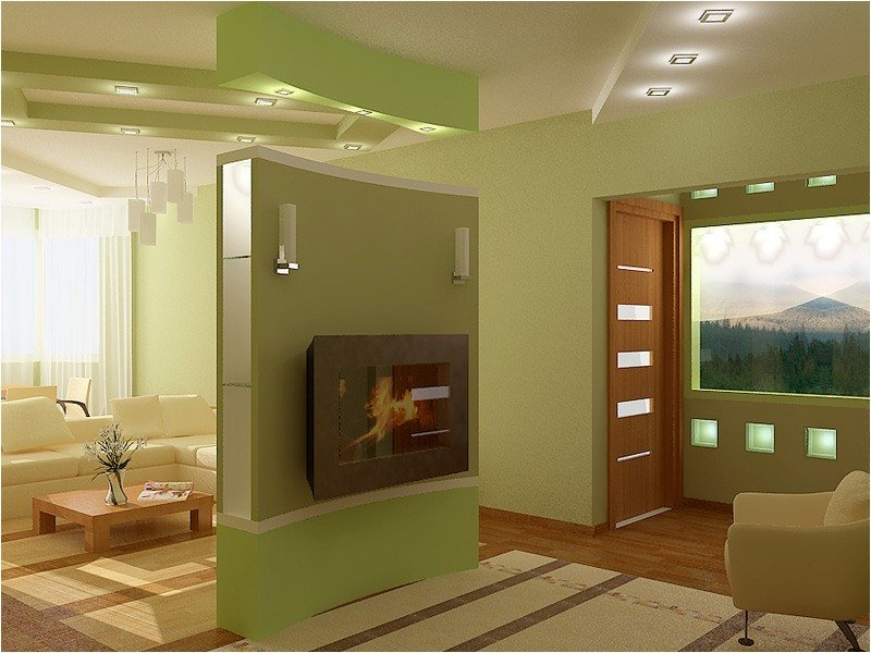 Electric Fireplace Built In Wall On Custom Fireplace