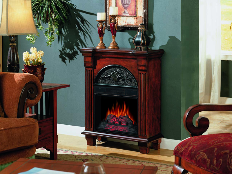Electric Peninsula Fireplace On Custom Fireplace Quality