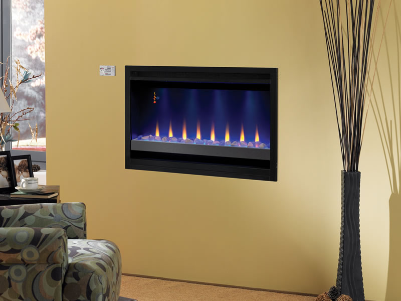 Electric Vent Free Fireplace Tv Unit On Custom Fireplace