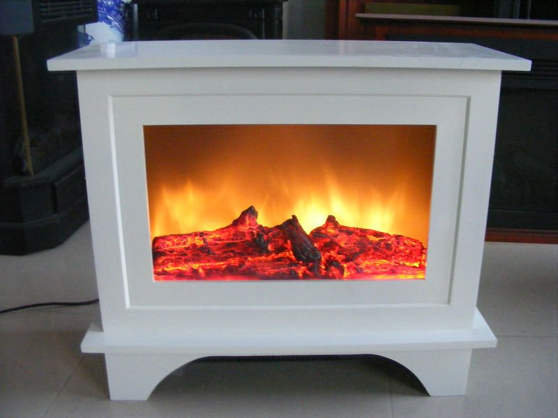 White Electric Fireplace On Custom Fireplace Quality Electric