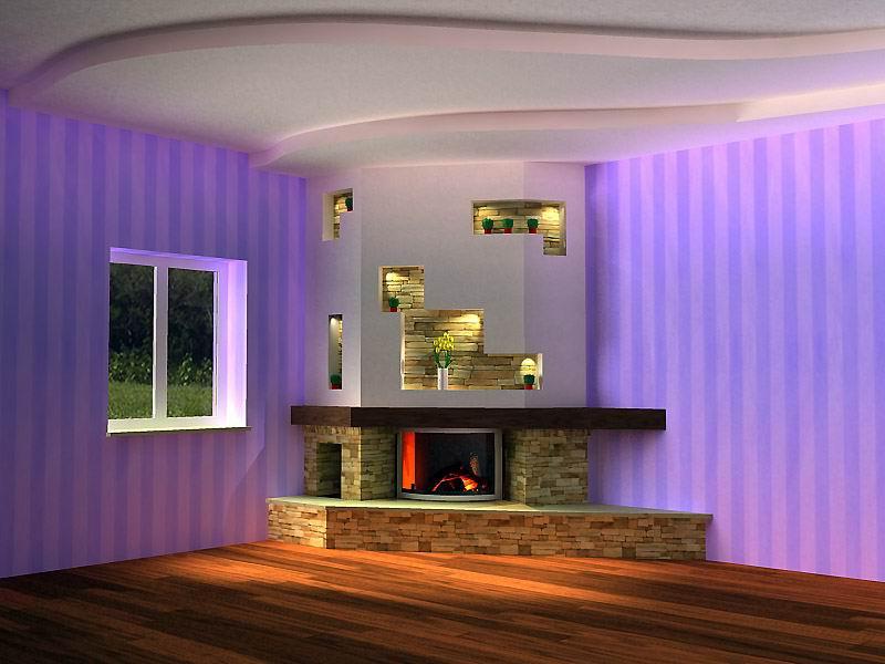 Basement electric fireplace on Custom Fireplace Quality