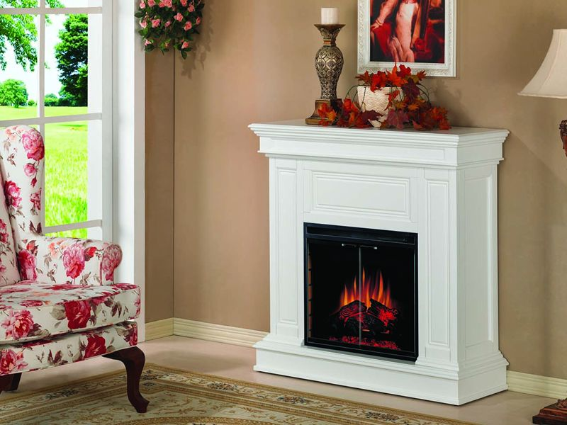 Heat Surge Fireless Flame Electric Fireplace On Custom