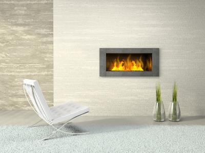 Tiling Around A Fireplace Insert On Custom Fireplace