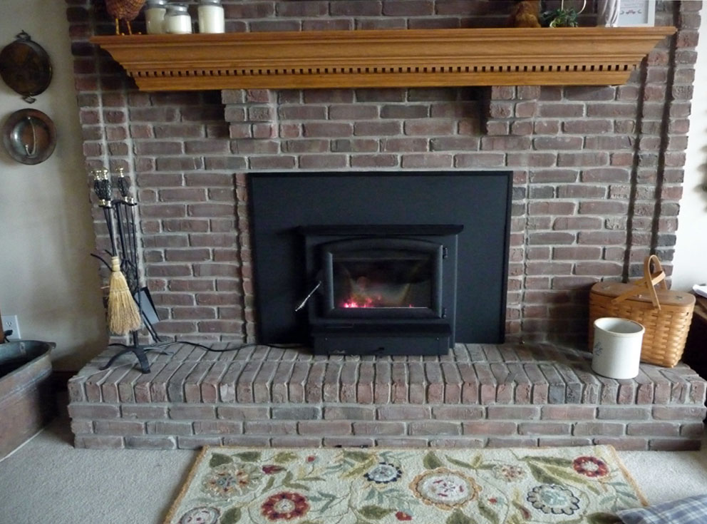 Gas Fireplace Insert Manufacturers On Custom Fireplace