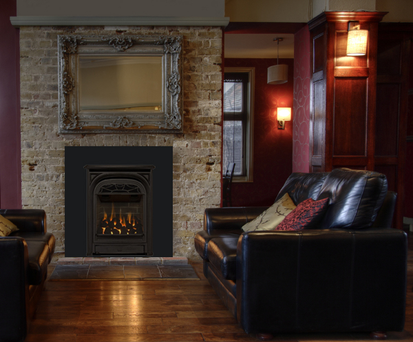 Used Fireplace Insert On Custom Fireplace Quality Electric Gas