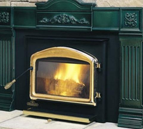 Harman accentra pellet fireplace insert on Custom-Fireplace ...