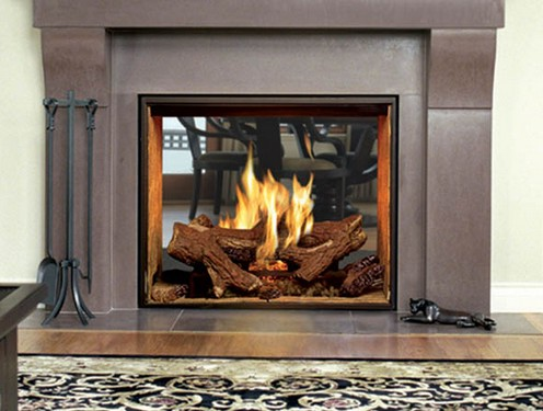Used Electric Fireplace Insert On Custom Fireplace