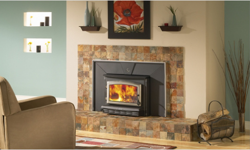 Black Bart Ii Fireplace Insert On Custom Fireplace