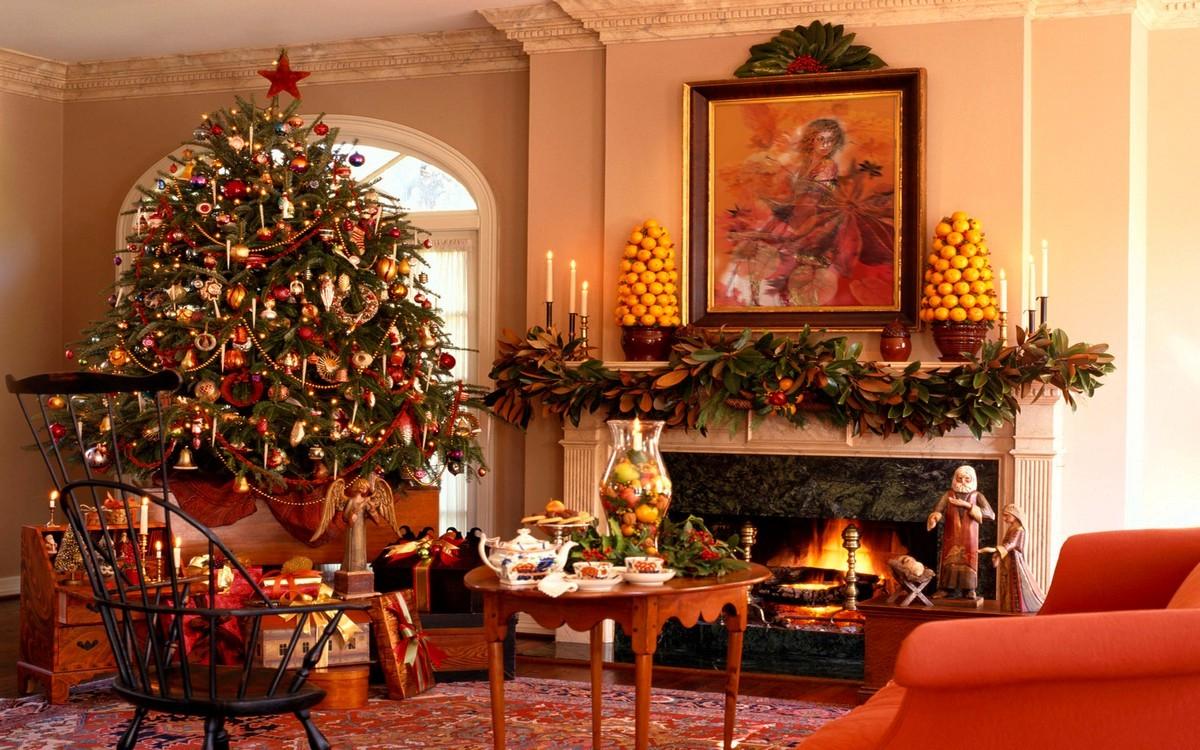Fireplace Mantel Christmas Decorating Ideas On Custom