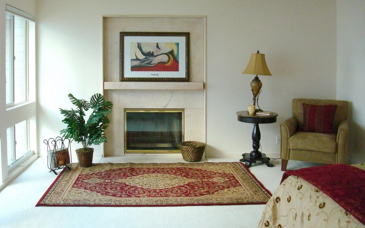 Wood Mantel For Gas Log Fireplace On Custom Fireplace