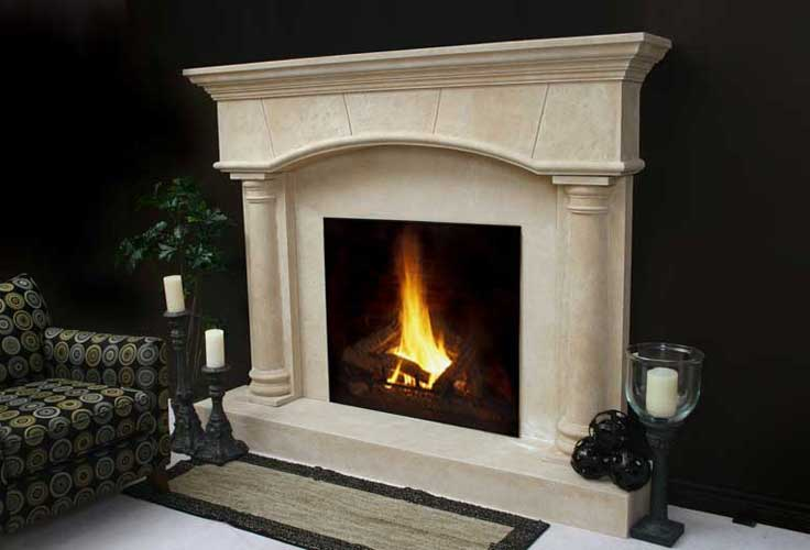 Build a fireplace mantel on Custom-Fireplace. Quality electric ...