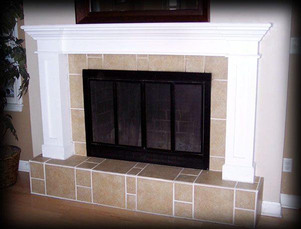 Fireplace mantel for tv on Custom-Fireplace. Quality electric, gas ...