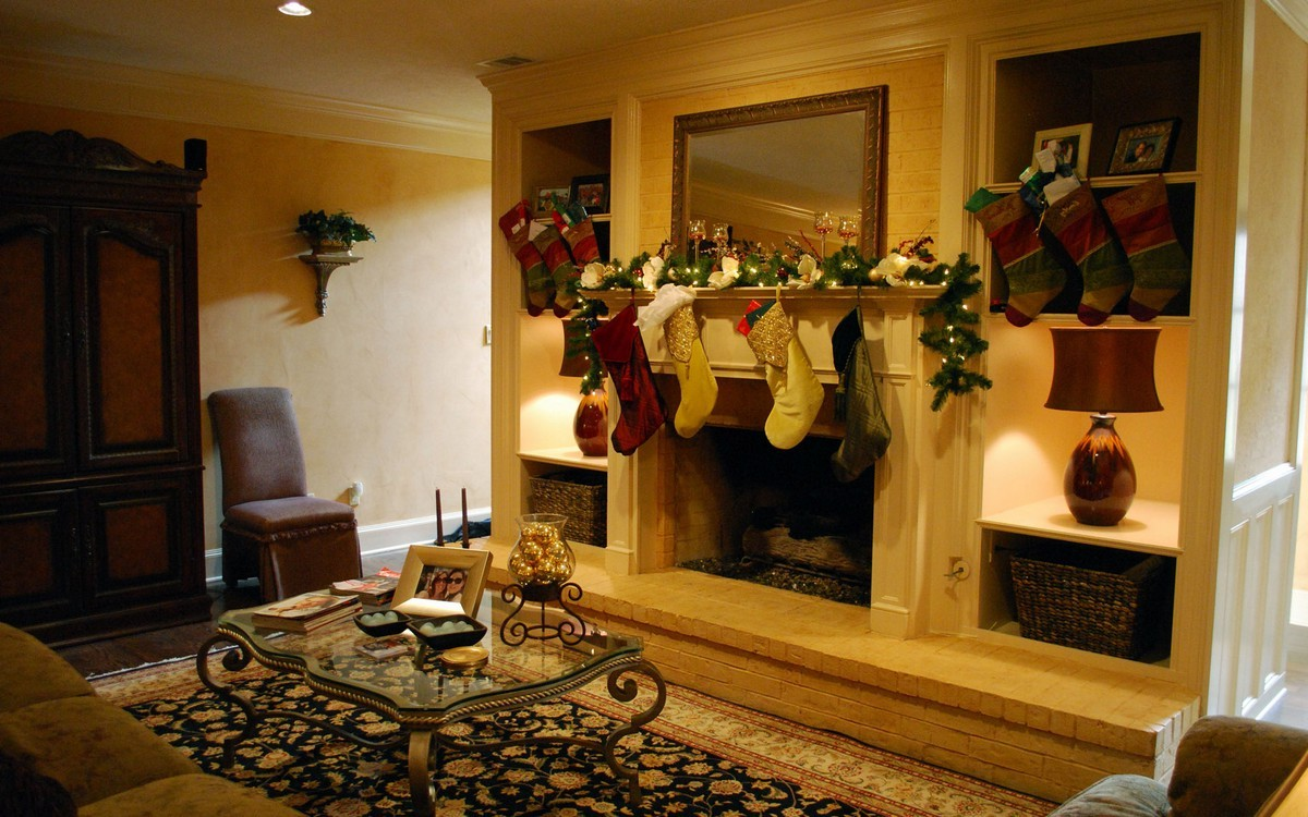 How To Accessorize A Fireplace Mantel On Custom Fireplace