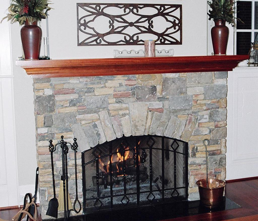 Painted Fireplace Screen On Custom Fireplace Quality