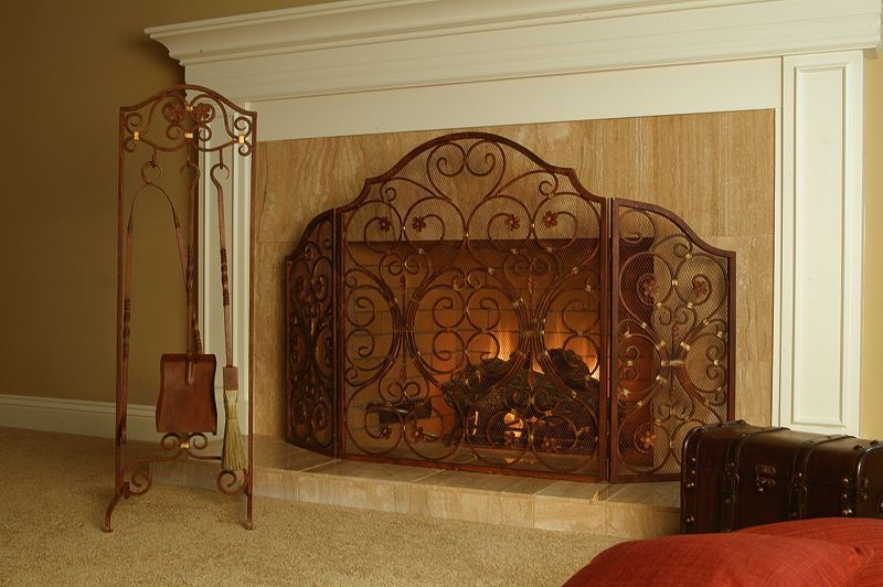 Lsu fireplace screen on Custom-Fireplace. Quality electric, gas ...