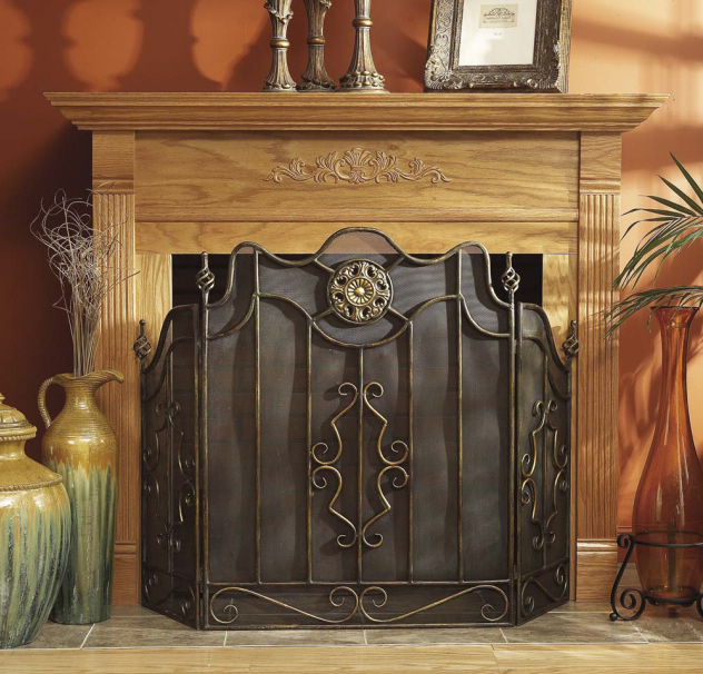 Wrought Iron Fireplace Screen On Custom Fireplace Quality Electric