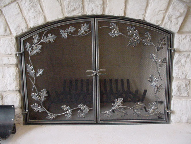Fireplace Curtain Screen, Fireplace Screen Horses, Flat Fireplace Screen  With Doors, Fireplace Screen
