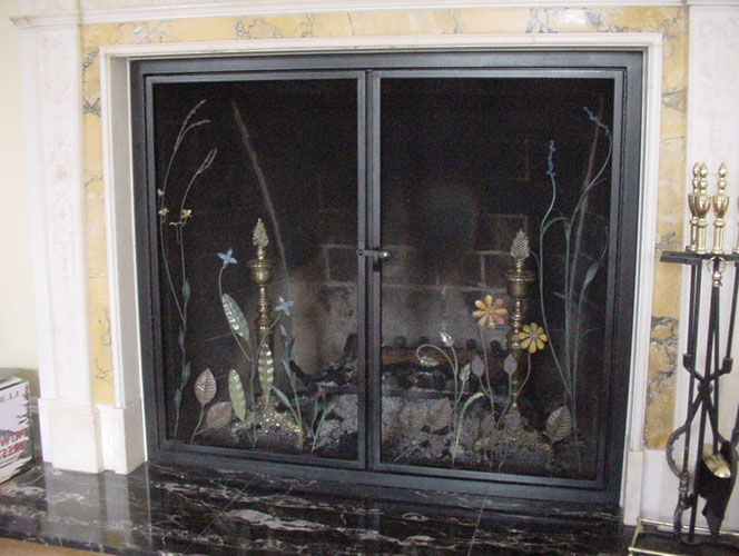 wood fireplace screens. North Star Fireplace Screen  Brass Southwestern Wrought Iron North On Custom Fireplace Quality Electric