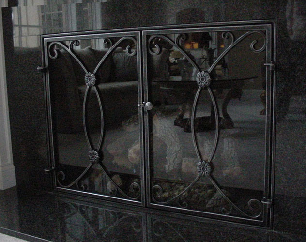 fireplace screen with glass doors, fireplace screen horse image, flat panel fireplace  screen, - Fireplace Screen With Glass Doors On Custom-Fireplace. Quality