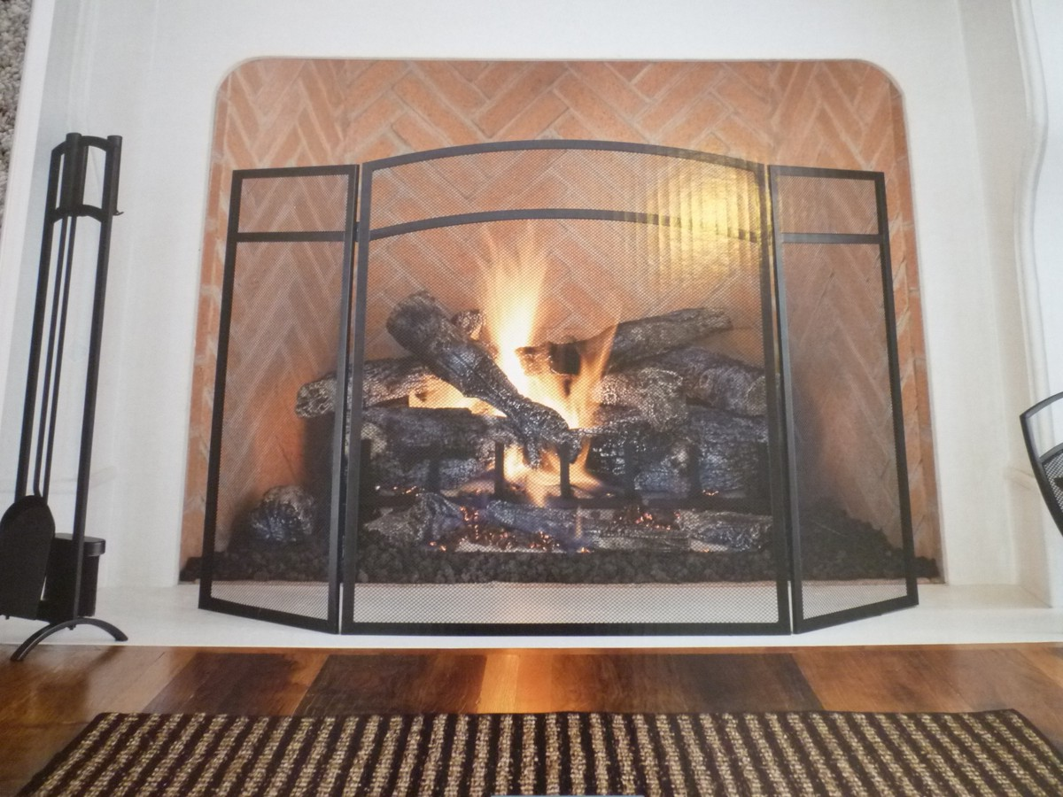 Construction of a stained glass fireplace screen on Custom ...