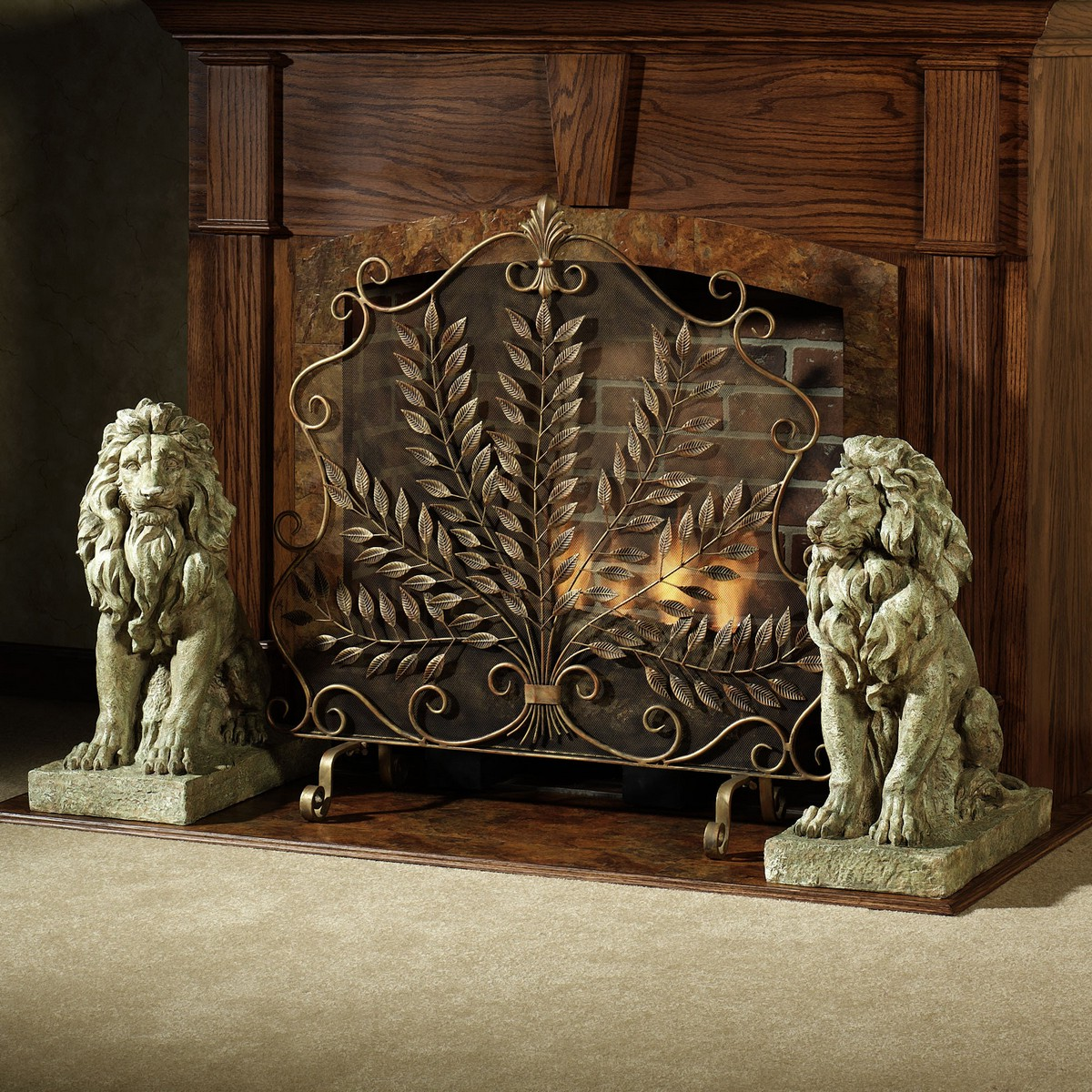 Decorative fireplace screen on custom fireplace quality Decorative fireplace covers