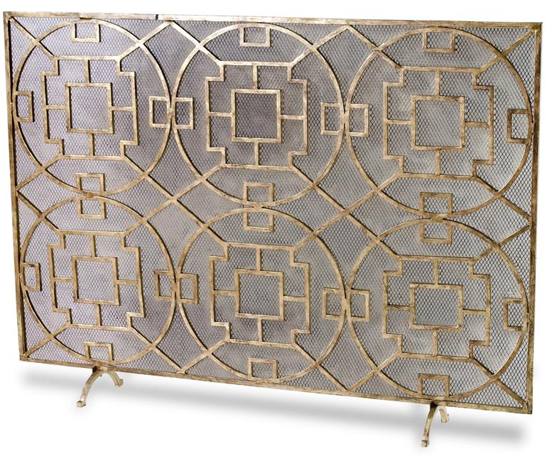 Wrought Iron Fireplace Screen On Custom Fireplace Quality