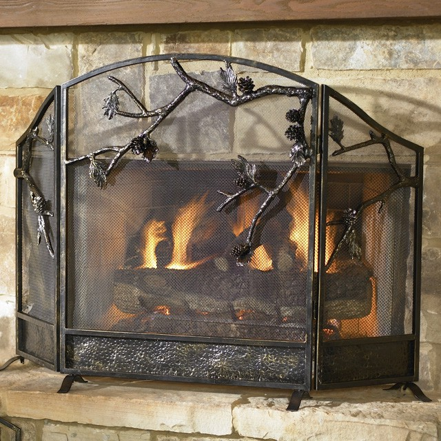 Glass Fireplace Screen On Custom Fireplace Quality Electric Gas And Wood Fireplaces And Stoves