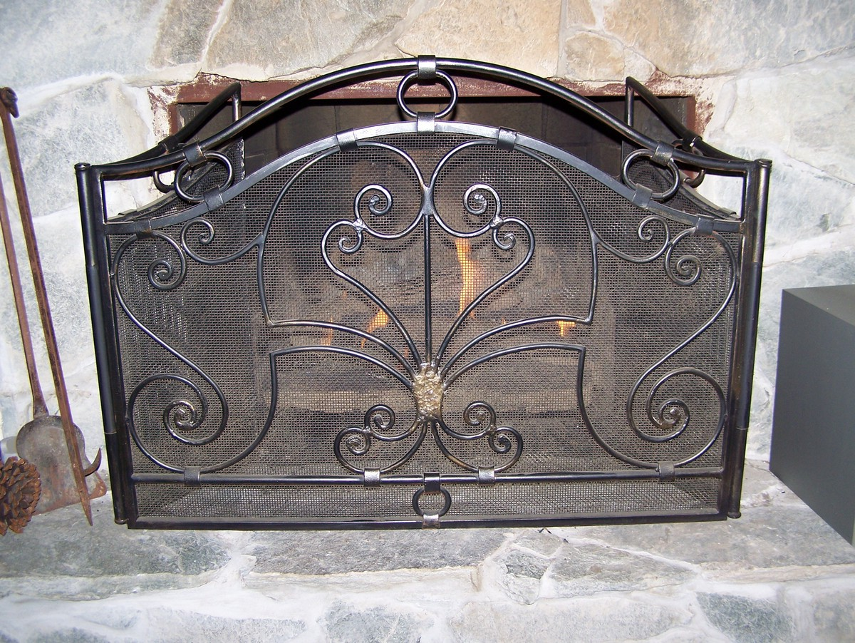 Antique Rust Fireplace Screen On Custom Fireplace Quality Electric Gas And Wood Fireplaces And