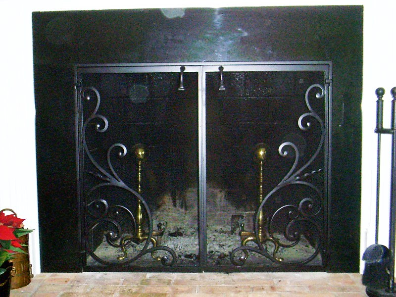 Fireplace Design cast iron fireplace screen : Folding fireplace screen on Custom-Fireplace. Quality electric ...