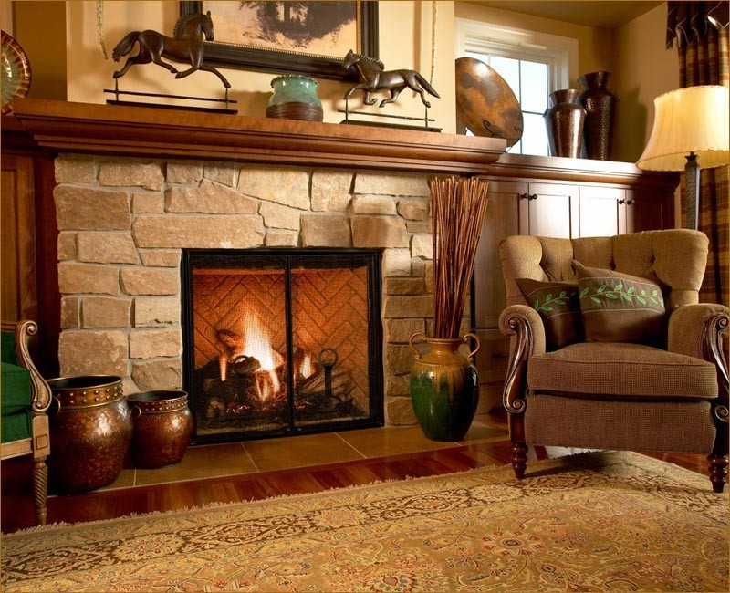 Gas Fireplace Ventless On Custom Fireplace Quality