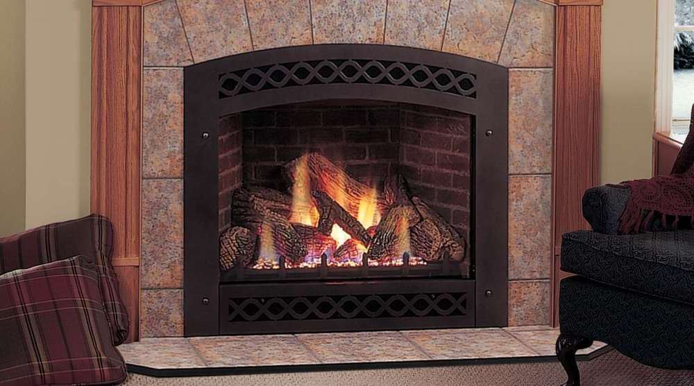 Ventless Gas Fireplace Inserts On Custom Fireplace