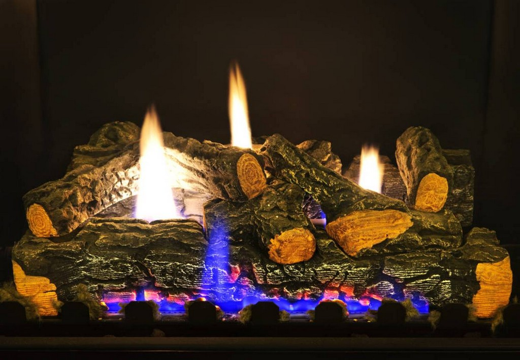 Vent free gas logs ventless gas fireplace logs set on Custom ...