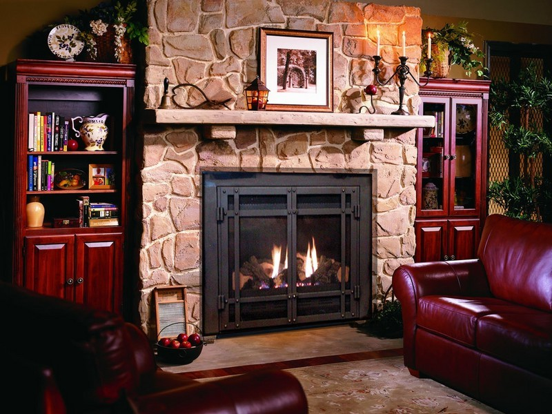 gas fireplace conversion, complete gas fireplace, lp gas fireplace, gas  fireplace indoor - Gas Fireplace Conversion On Custom-Fireplace. Quality Electric