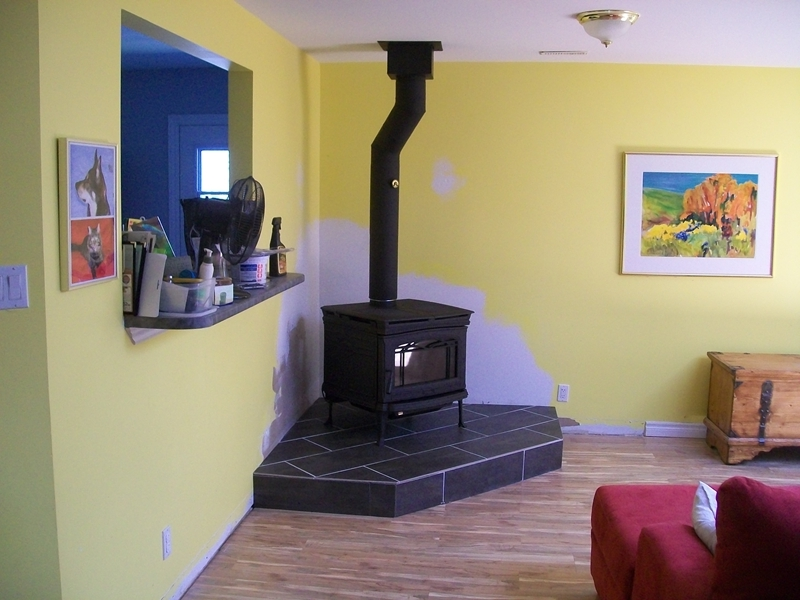 Taylor Wood Burning Stove On Custom Fireplace Quality