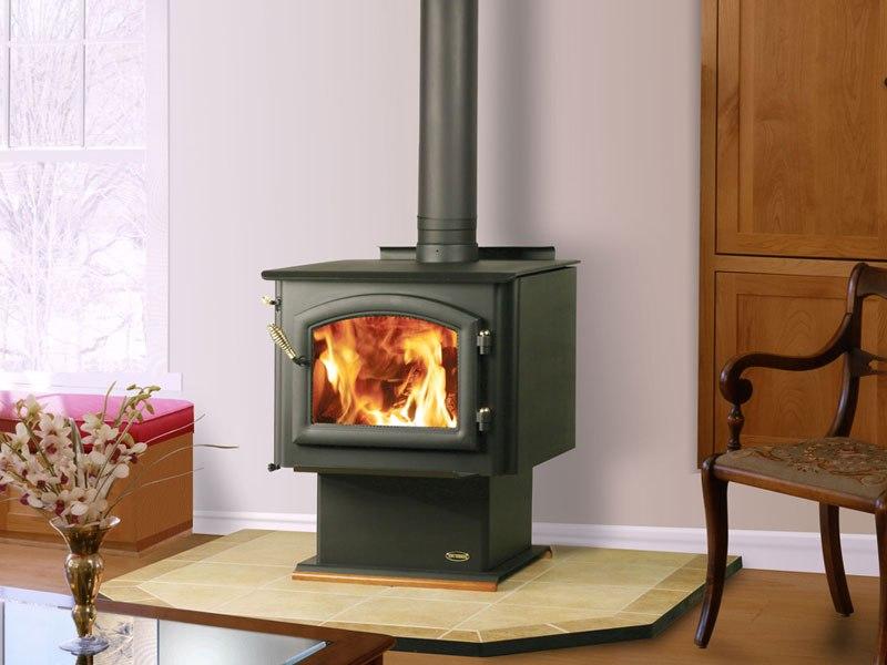 Petit Godin Wood Stove On Custom Fireplace Quality