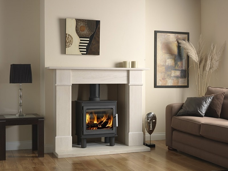 Vermont Castings Wood Stove On Custom Fireplace Quality