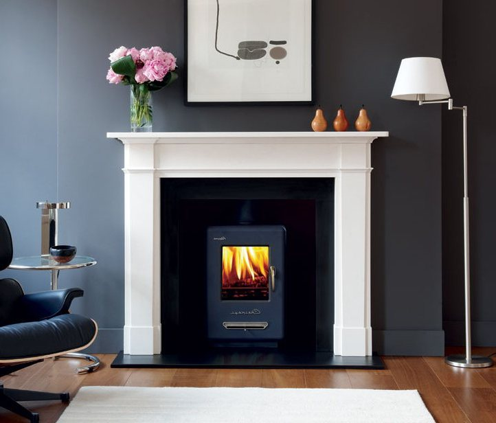 Wood Stove Installation On Custom Fireplace Quality