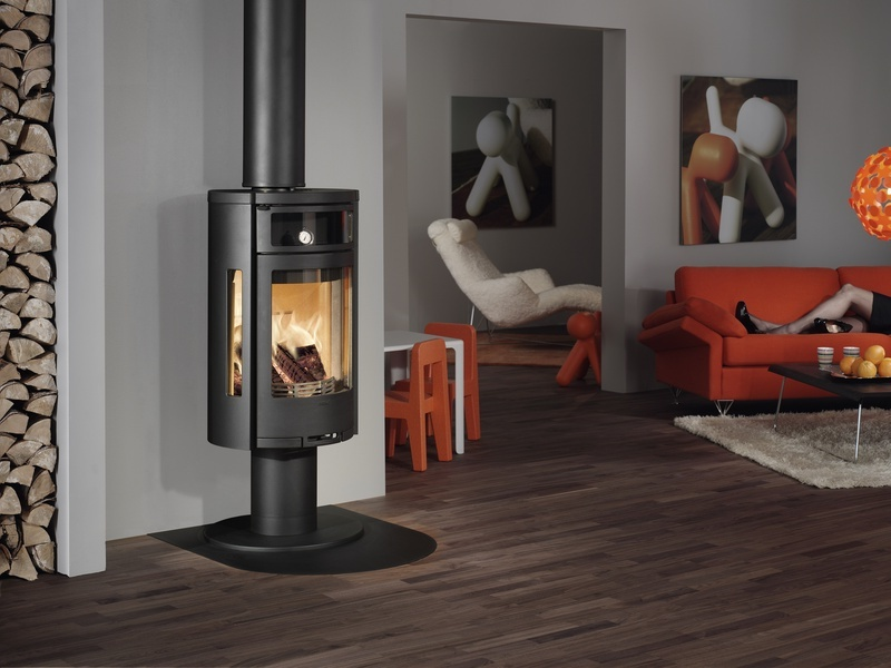 Blaze King Wood Stove On Custom Fireplace Quality