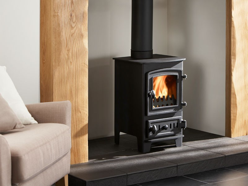 Modern Wood Stove On Custom Fireplace Quality Electric