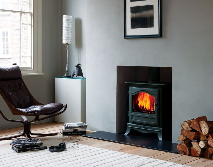 Potbelly Wood Stove On Custom Fireplace Quality Electric