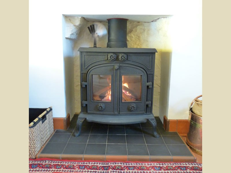 Fisher Wood Burning Stove On Custom Fireplace Quality